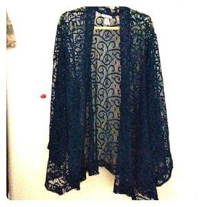 Open weave cardigan